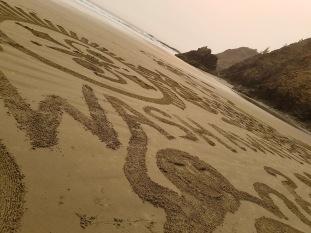Local beach art.