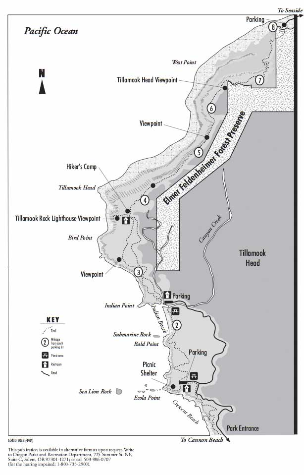 ecola park map