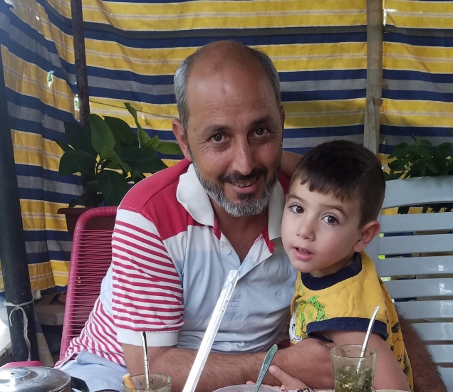 Wassim and his youngest son, Jado.